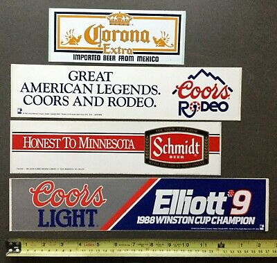 Corona, Coors & Schmidt. Original Stickers / Decal. x 4.