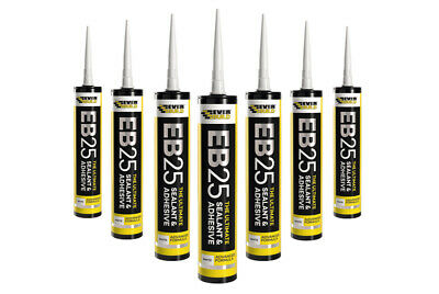 6 X Everbuild Eb25 Ultimate Sealant & Adhesive Hybrid Polymer Indoor/Outdoor