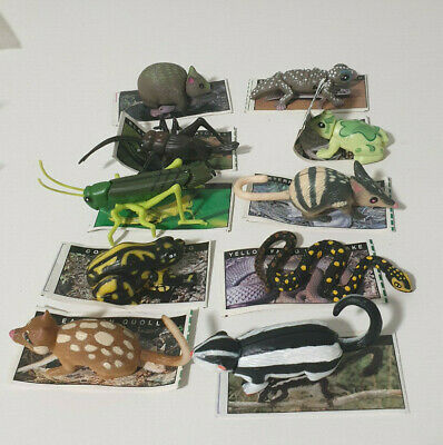 Yowies Series 1 Lot Of 10 Australian Animals With Papers Cricket Gecko Wombat