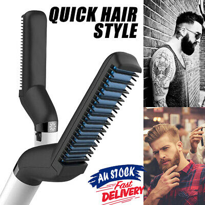 Quick Beard Straightener Curler Curling Cap Multifunctional Hair Comb Show Comb~