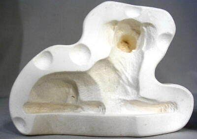 "LYING DOG  (5"") Nowell's Ceramic Mold figurine short-haired"