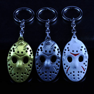 Friday the 13th Mask Alloy Key Chains Keychain Keyfob Keyring Gift