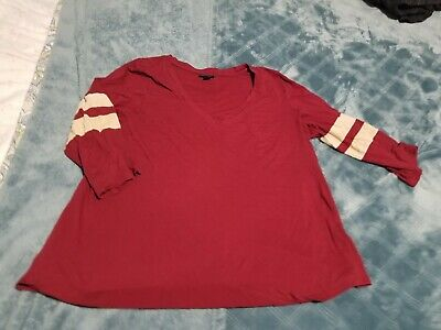Torrid Women's Plus Shirt Blouse Top football style back Size 0
