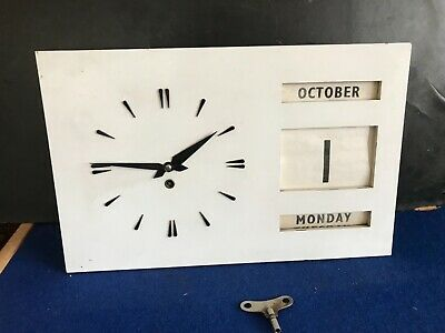 1900's wall clock with date day month calendar & Eliot movement
