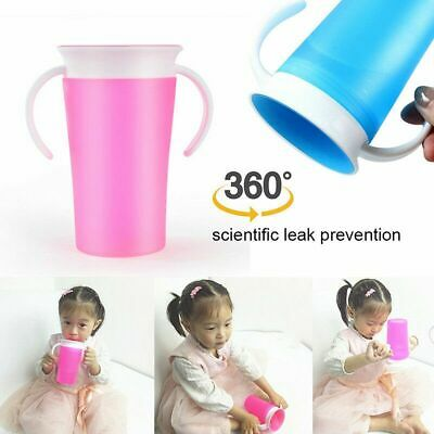 360 Degree Trainer Cup Baby Toddler Miracle Spill Free Training Sippy Drinking