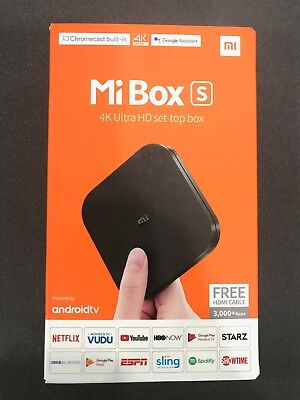 Xiaomi Mi Box S 4K HDR Android TV MDZ-22-AB Google Chromecast Assistant #Mi14