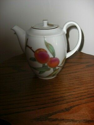 Royal Worcester Evesham Gold Large 2 Pint Teapot,First Quality,Vgc