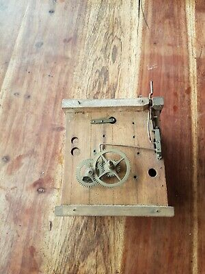 Wooden  Plates Movement For Antique    Cuckoo Clock - Spares Or Repair