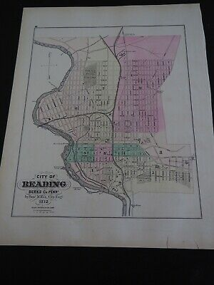 """Antique """"Outline Map of the County and City of Philadelphia & Vicinity 1872"""""""