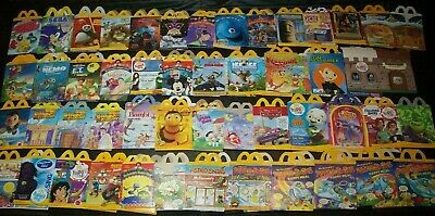 Disney Pixar McDonalds Happy Meal Boxes & Bags+Other Movies & TV 130 Mostly MINT