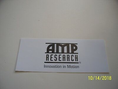 "ORIGINAL   DECALS  ""  AMP  Research  Inovation  in Motion  ""   3 "" x 7.5 """