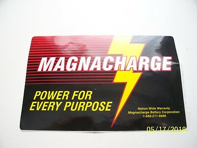 "Original   Decals  ""  Magna  Charge  Battery  Sticker  """