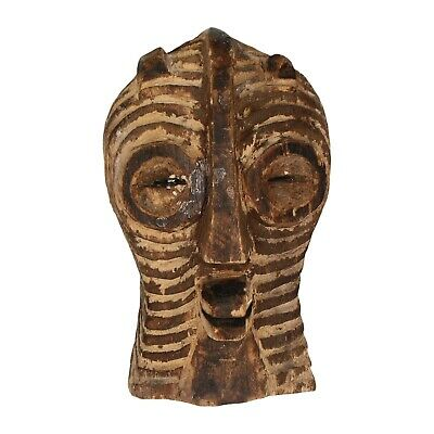 An old small hand carved mask Tribal African? Wooden