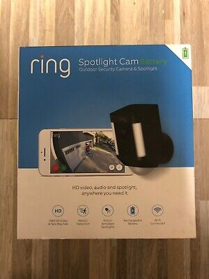 Ring Spotlight Cam Battery Wireless Outdoor Security Camera & Spotlight - BLACK