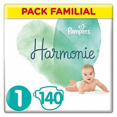 Pampers Harmonie - Couches Taille 1 - Pack Familial (140 couches) - NEUF
