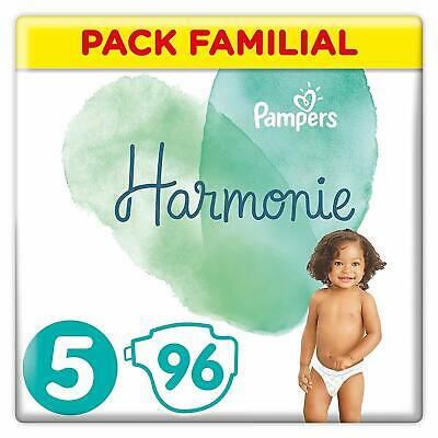 Pampers Harmonie - Couches Taille 5 - Pack Familial (96 couches) - NEUF