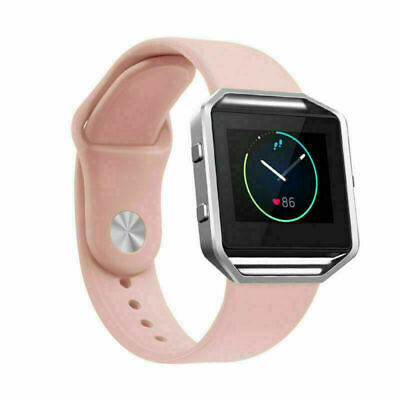 Replacement Silicone Sport Band Strap Bracelet For Fitbit Blaze Wristband Pink S