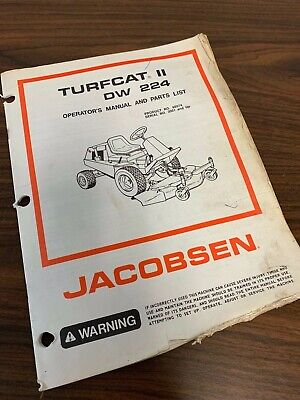 JACOBSEN TURFCAT 2 II DW 224 DW224 OutFront Rotary Mower Parts Manual on
