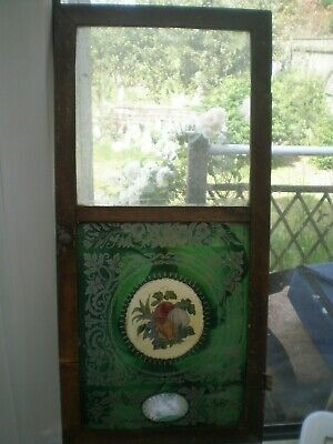 ANTIQUE JEROME NEW HAVEN CONN. front door with hand painted (?) lower half