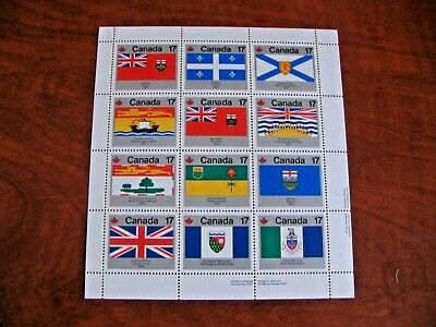 Canada 1979 2.04$ #821-823a Provincial and Territorial Flags SS LR Mint NHVF