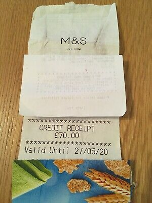 marks and spencer credit voucher £70