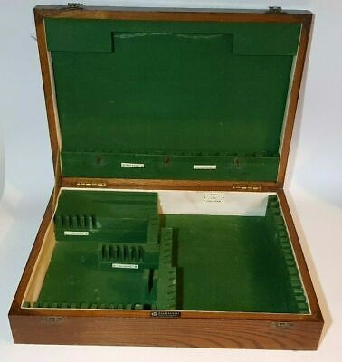 Empty Vintage Walker & Hall Wooden Cutlery Upcycle Jewellery Box Canteen