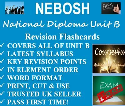 NEBOSH National Diploma Unit B Revision Flashcards Print Learn & Pass! DOWNLOAD*
