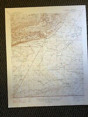 Vintage USGS Carlsbad Caverns National Park East New Mexico 1947 Topographic Map