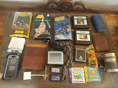 Large Nerd Guy Resale Junk Lot. Starwars, Ottorbox, Apple, Atari, Game Boy ect