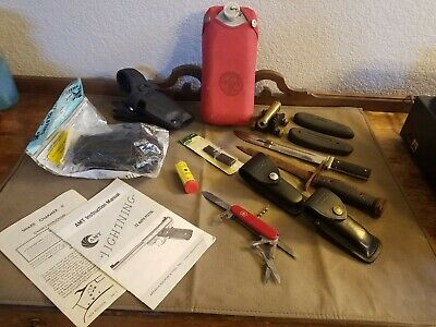 Huge Lot of Guy Stuff Military, German, Bayonet, Knives, Shooting, Boyscouts ect