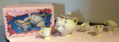 Vintage Disney's Beauty and the Beast Toy China Tea Set P/O IOB VG Cond