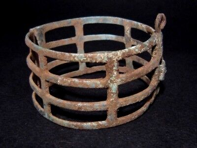 Extremely Rare Type Roman Bronze Bracelet In Two Movable Parts+++