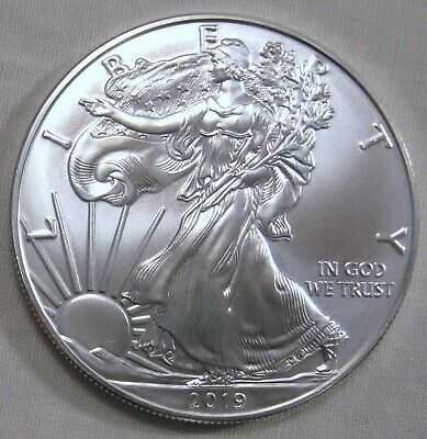 Lot of 2 - 2019 American Silver Eagle BU