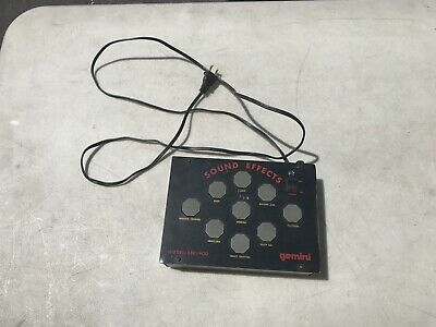 Gemini Sound Effect SEC-900 Dj Mixer With Power Supply! Works!