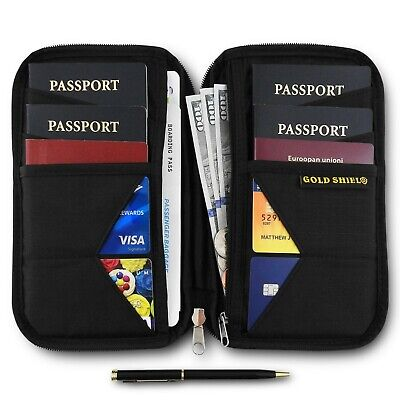 Travel Wallet & Family Passport Holder RFID Blocking Case Document Organizer NEW