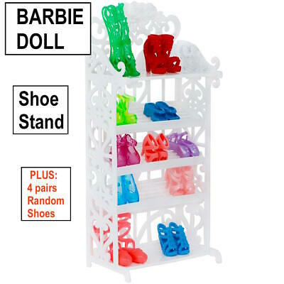 New Barbie Doll Clothes Shoe Stand shoes wardrobe outfit clothing dress casual