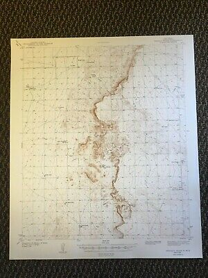 Vintage USGS Pendejo Wash New Mexico 1943 Topographic Map