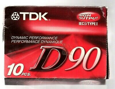 Lot of 9, NEW, TDK D90 IEC1 Type I High Output Cassette Tapes! NICE!
