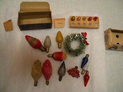 Vintage Christmas Lights  Working Older Xmas Items 13 Pcs.  C6 C7 C9  All Bulbs