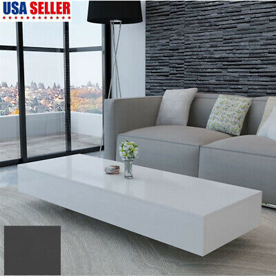 COFFEE TABLE MDF High Gloss White and Black Home Furniture ...