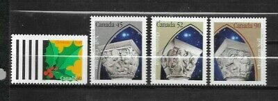 pk45279:Stamps-Canada #1585-1588 Christmas Capital Sculptures Issues Set - MNH