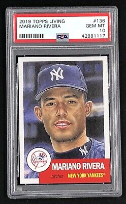 2019 Topps Living Set #136 MARIANO RIVERA PSA 10 *In PSA Fit Sleeve! POP 218