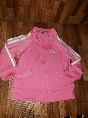 Adidas jacket size 12 months pink windbreaker baby girls coat warm up zip up
