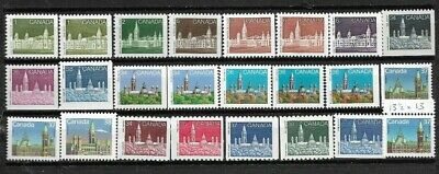 pk45298:Stamps-Canada Lot of 24 Parliament Definitive Issues - MNH