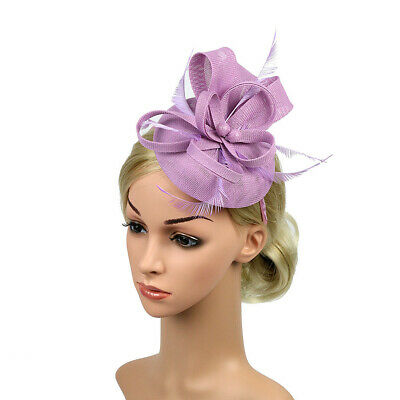 Gold FLOWER FASCINATOR CROWN Faux Leather Rose Headband Races Day Racing Cup