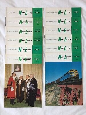 Victorian Railways Newsletter 1969 all 12 monthly editions - great condition