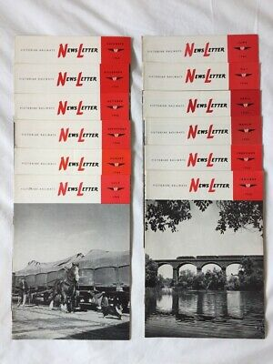 Victorian Railways Newsletter 1966 all 12 monthly editions excellent condition