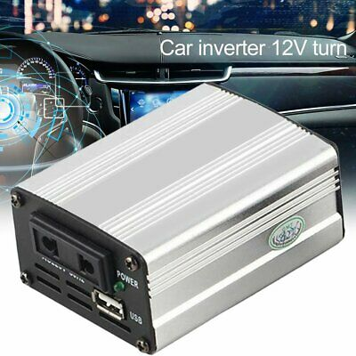 800W - 1000W Silver Power Inverter Adapter Car Converter 12V to 240V USB AU wc