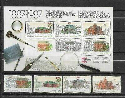 pk45307:Stamps-Canada #1122-1125A Capex 87 Post Offices Issues Set  - MNH