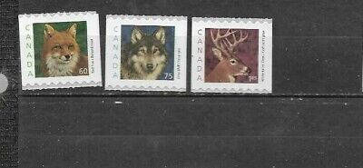 pk45308:Stamps-Canada #1879-1881 Wildlife Definitive Issues Set  - MNH